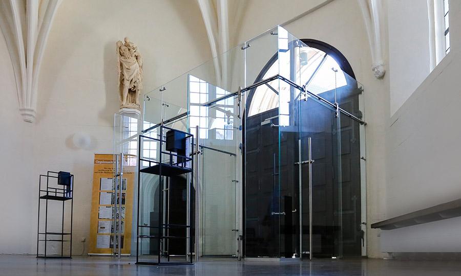 Windfang coburger Morizkirche - ein Hauch von Glas