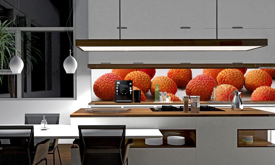 Glas und Design Glas- oderPlatte-Küchenrückwand
