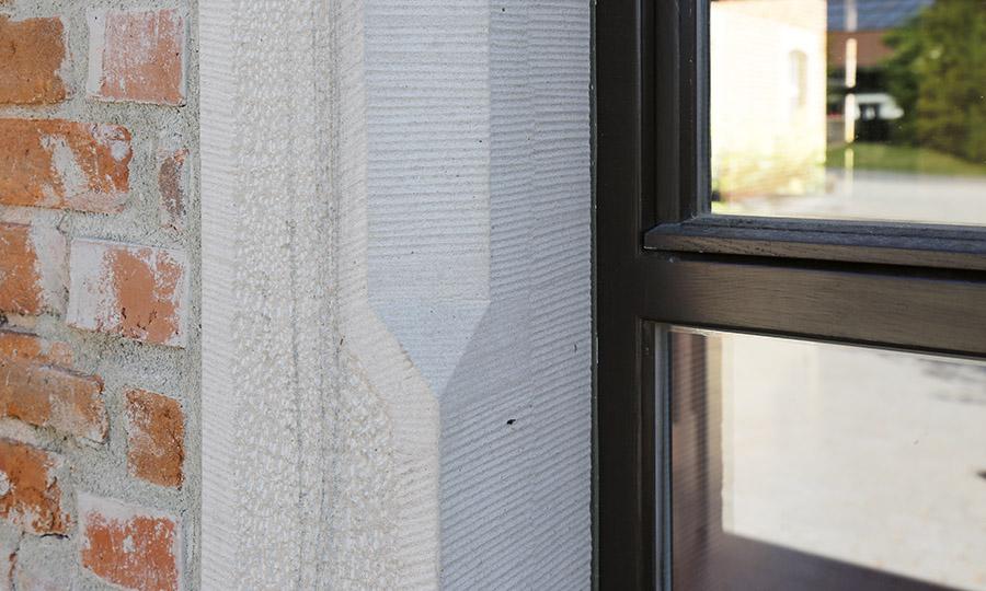 Denkmalschutz Fenster mit Sandsteinsims - Waldorfschule Coburg Detail